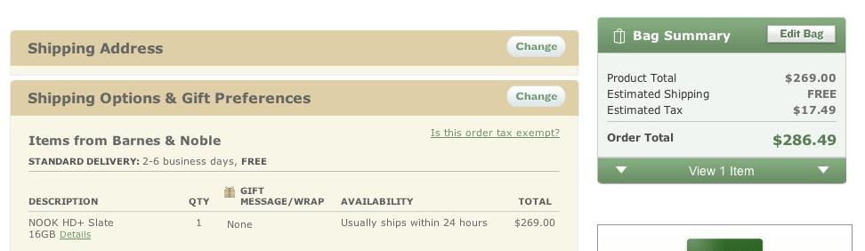 Barnes Noble No Expedited Shipping