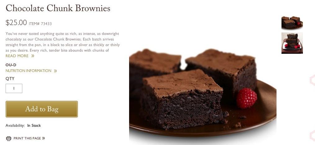 Godiva Product Page