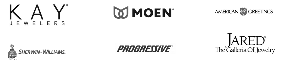Companies I've Worked With Includes American Greetings, Moen and Progressive Insurance