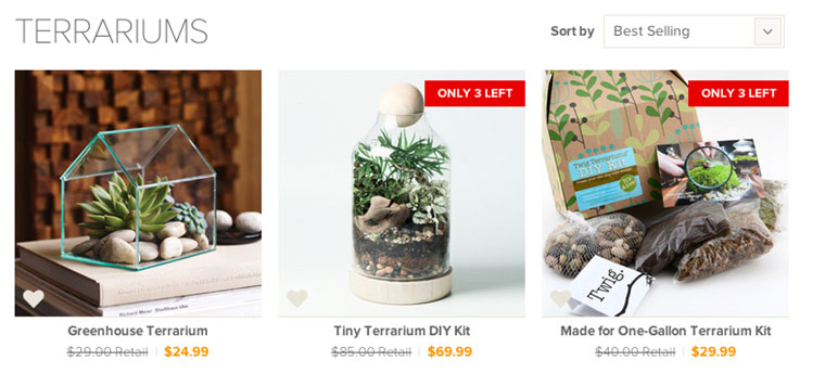 Dot & Bo Product Quantity on Gallery
